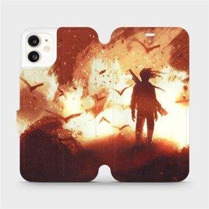 Flipové pouzdro Mobiwear na mobil Apple iPhone 11 - MA06S Postava v ohni