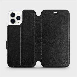 Flipové pouzdro Mobiwear na mobil Apple iPhone 11 Pro v provedení C_BLS Black&Gray s šedým vnitřkem