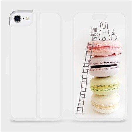 Flipové pouzdro Mobiwear na mobil Apple iPhone 8 - M090P Makronky - have a nice day