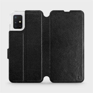 Flipové pouzdro Mobiwear na mobil Samsung Galaxy A51 v provedení C_BLS Black&Gray s šedým vnitřkem