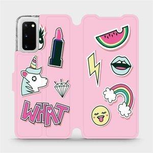 Flipové pouzdro Mobiwear na mobil Samsung Galaxy S20 - M129S Růžové WHAT