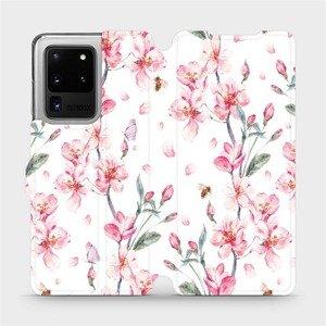 Flipové pouzdro Mobiwear na mobil Samsung Galaxy S20 Ultra - M124S Růžové květy