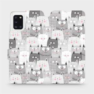 Flipové pouzdro Mobiwear na mobil Samsung Galaxy A31 - M099P Kočičky