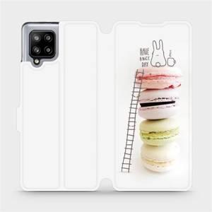 Flipové pouzdro Mobiwear na mobil Samsung Galaxy A42 5G - M090P Makronky - have a nice day