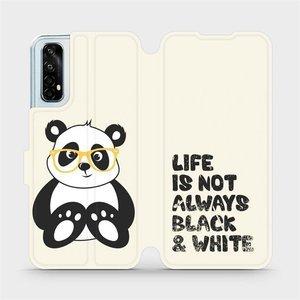 Flipové pouzdro Mobiwear na mobil Realme 7 - M041S Panda - life is not always black and white