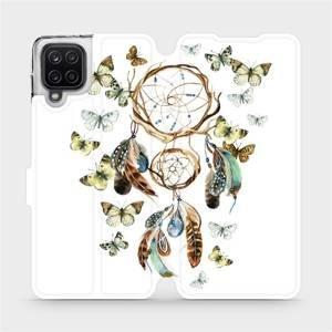 Flipové pouzdro Mobiwear na mobil Samsung Galaxy A12 - M001P Lapač a motýlci
