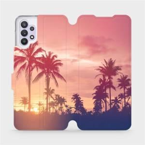 Flipové pouzdro Mobiwear na mobil Samsung Galaxy A32 5G - M134P Palmy a růžová obloha