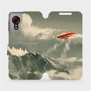 Flipové pouzdro Mobiwear na mobil Samsung Galaxy Xcover 5 - MA03P Oranžové letadlo v horách