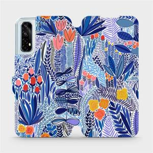 Flip pouzdro Mobiwear na mobil Realme 7 - MP03P Modrá květena