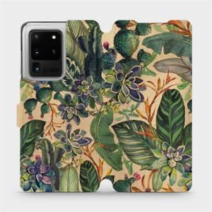 Flip pouzdro Mobiwear na mobil Samsung Galaxy S20 Ultra - VP05S Sukulenty