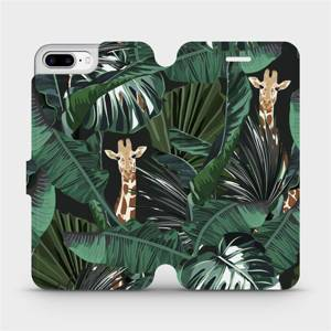 Flip pouzdro Mobiwear na mobil Apple iPhone 8 Plus - VP06P Žirafky