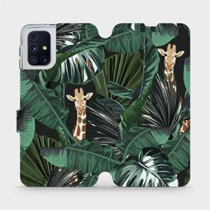 Flip pouzdro Mobiwear na mobil Samsung Galaxy M31s - VP06P Žirafky