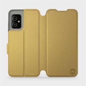 Flip pouzdro Mobiwear na mobil Asus Zenfone 8 v provedení C_GOP Gold&Orange s oranžovým vnitřkem