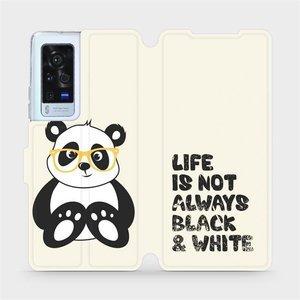 Flip pouzdro Mobiwear na mobil Vivo X60 Pro 5G - M041S Panda - life is not always black and white