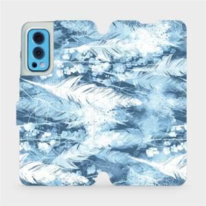 Flip pouzdro Mobiwear na mobil OnePlus Nord 2 5G - M058S Světle modrá horizontální pírka