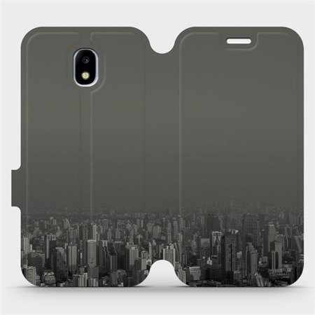 Flipové pouzdro Mobiwear na mobil Samsung Galaxy J3 2017 - V063P Město v šedém hávu