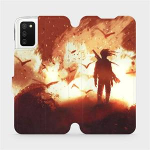 Flip pouzdro Mobiwear na mobil Samsung Galaxy A03s - MA06S Postava v ohni