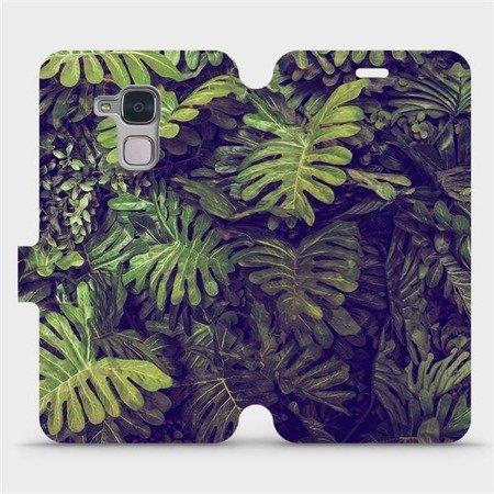 Flipové pouzdro Mobiwear na mobil Honor 7 Lite - V136P Zelená stěna z listů