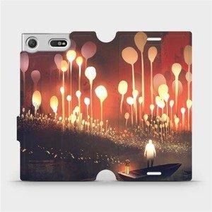 Flipové pouzdro Mobiwear na mobil Sony Xperia XZ1 Compact - VA01S Lampiony a muž v lodičce