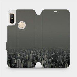 Flipové pouzdro Mobiwear na mobil Xiaomi Mi A2 Lite - V063P Město v šedém hávu