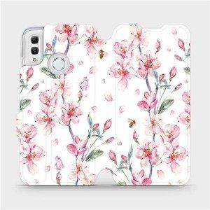 Flipové pouzdro Mobiwear na mobil Honor 10 Lite - M124S Růžové květy