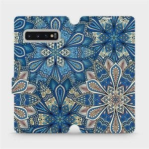 Flipové pouzdro Mobiwear na mobil Samsung Galaxy S10 Plus - V108P Modré mandala květy
