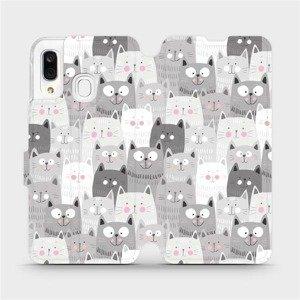 Flipové pouzdro Mobiwear na mobil Samsung Galaxy A40 - M099P Kočičky
