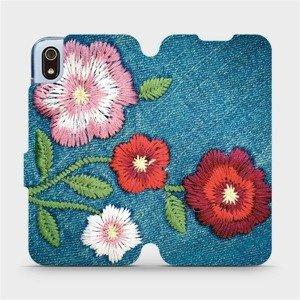 Flipové pouzdro Mobiwear na mobil Xiaomi Redmi 7A - MD05P Džínové květy