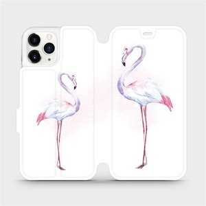 Flipové pouzdro Mobiwear na mobil Apple iPhone 11 Pro - M005S Plameňáci