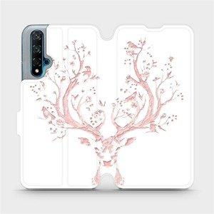 Flipové pouzdro Mobiwear na mobil Huawei Nova 5T - M007S Růžový jelínek