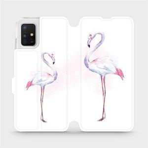 Flipové pouzdro Mobiwear na mobil Samsung Galaxy A51 - M005S Plameňáci