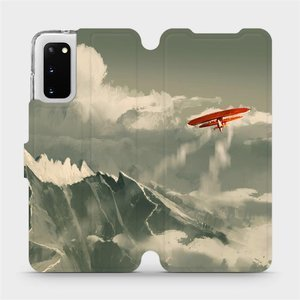 Flipové pouzdro Mobiwear na mobil Samsung Galaxy S20 - MA03P Oranžové letadlo v horách