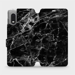 Flipové pouzdro Mobiwear na mobil Samsung Xcover PRO - V056P Černý mramor