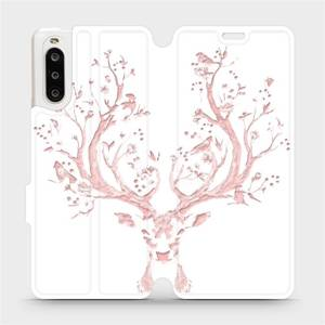 Flipové pouzdro Mobiwear na mobil Sony Xperia 10 II - M007S Růžový jelínek