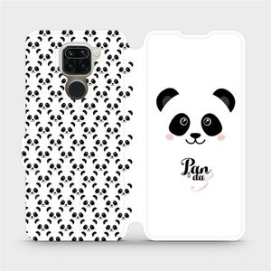 Flipové pouzdro Mobiwear na mobil Xiaomi Redmi Note 9 - M030P Panda Amálka