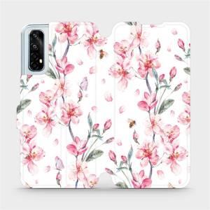 Flipové pouzdro Mobiwear na mobil Realme 7 - M124S Růžové květy