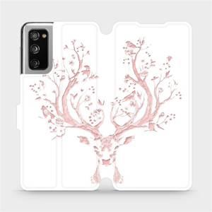 Flipové pouzdro Mobiwear na mobil Samsung Galaxy S20 FE - M007S Růžový jelínek