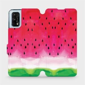 Flipové pouzdro Mobiwear na mobil Realme 7 Pro - V086S Melounek