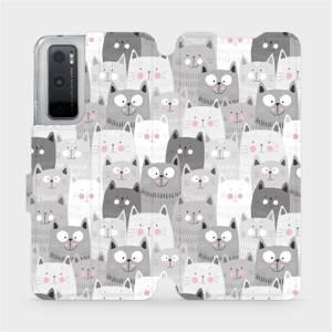 Flipové pouzdro Mobiwear na mobil Vivo Y70 - M099P Kočičky