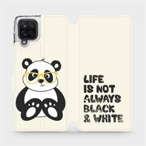 Flipové pouzdro Mobiwear na mobil Samsung Galaxy A12 - M041S Panda - life is not always black and white