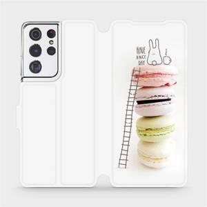 Flipové pouzdro Mobiwear na mobil Samsung Galaxy S21 Ultra 5G - M090P Makronky - have a nice day