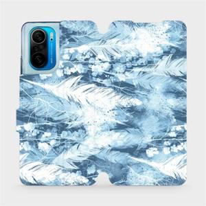 Flipové pouzdro Mobiwear na mobil Xiaomi Mi 11i / Xiaomi Poco F3 - M058S Světle modrá horizontální pírka