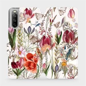 Flip pouzdro Mobiwear na mobil Sony Xperia 10 III - MP01S Rozkvetlá louka