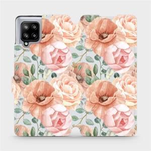 Flip pouzdro Mobiwear na mobil Samsung Galaxy A42 5G - MP02S Pastelové květy