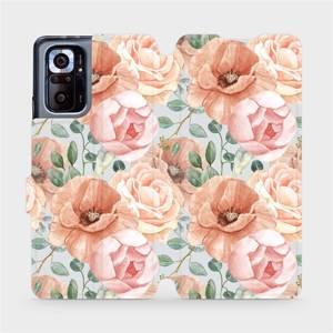 Flip pouzdro Mobiwear na mobil Xiaomi Redmi Note 10 Pro - MP02S Pastelové květy