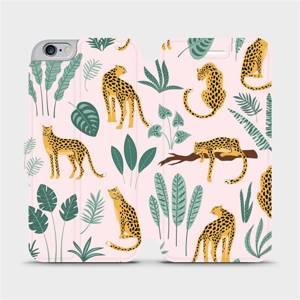 Flip pouzdro Mobiwear na mobil Apple iPhone 6s Plus / iPhone 6 Plus - MP07S Leopardi
