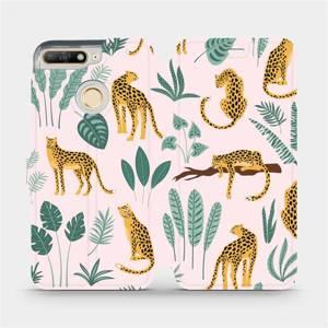 Flip pouzdro Mobiwear na mobil Huawei Y6 Prime 2018 - MP07S Leopardi