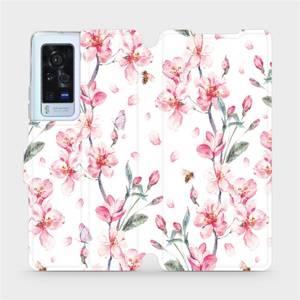Flip pouzdro Mobiwear na mobil Vivo X60 Pro 5G - M124S Růžové květy