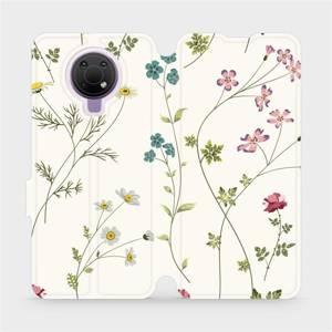 Flip pouzdro Mobiwear na mobil Nokia G10 - MD03S Tenké rostlinky s květy
