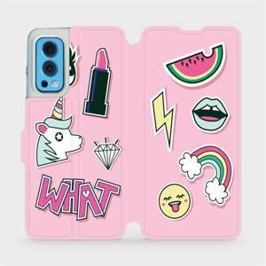 Flip pouzdro Mobiwear na mobil OnePlus Nord 2 5G - M129S Růžové WHAT